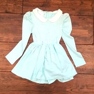 Girls Blossom Couture Teal Dress Peter Pan